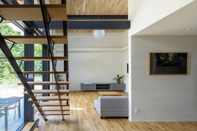 無垢フローリングの新築住宅