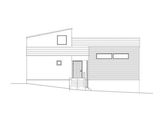 平屋の家外観立面図