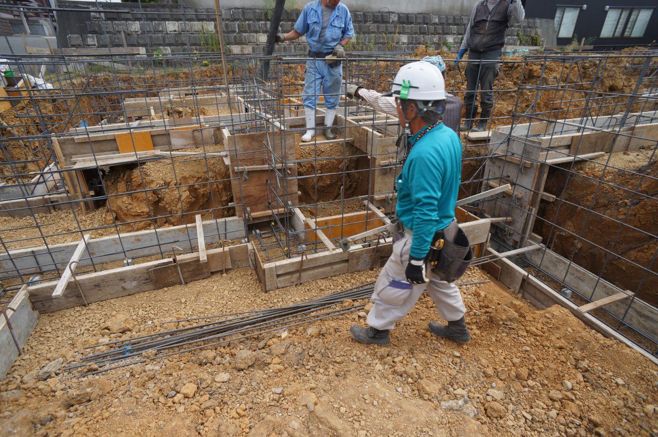 02-ベースコンクリート打設準備re